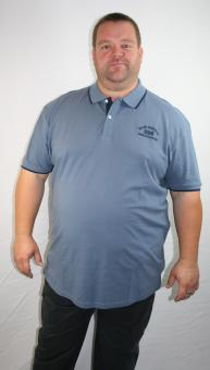 "*Kitaro Polohemd 162552-2208 blue ""Blue Waters"" 3-6+8XL"