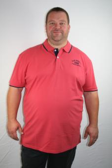 """*Kitaro Polohemd 162552-488 pale red """"Blue Waters"""" 3-8XL"""