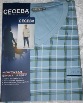 Ceceba Pyjama 3509 blue V-Neck