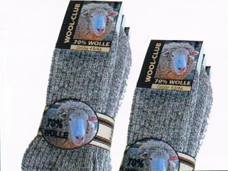 3er Pack 4101 Norweger Socken 70% Wolle 39-46