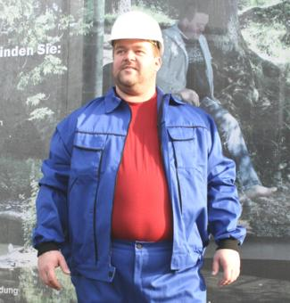 Ab Lager! MEN@WORK Berufsjacke blau 6+8XL