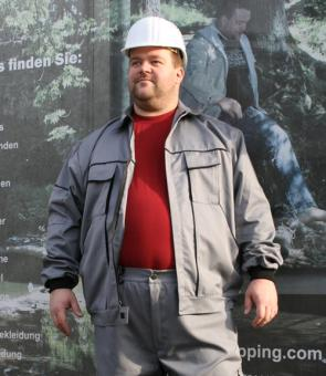 Ab Lager! Men at Work Berufjacke grau 8XL