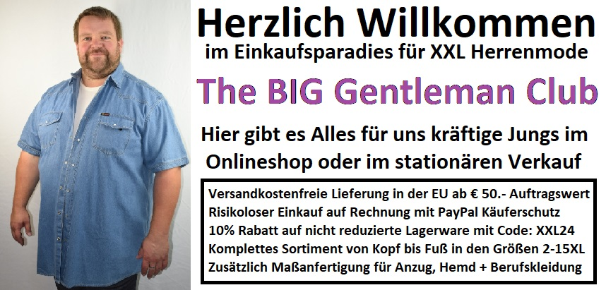 The BIG Gentleman Club Herrenmode in Großen Größen